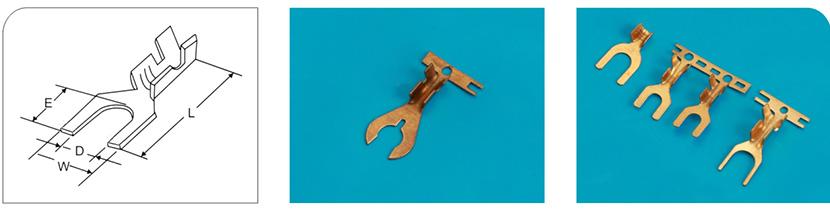 黄铜镀锡Y型连续端子产品图